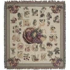 Alphabet Needlepoint Tapestry Throw