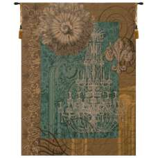Le Grand Lustre Blue French Tapestry Wall Hanging