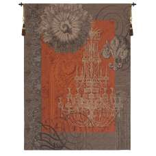 Le Grand Lustre Orange French Tapestry Wall Hanging