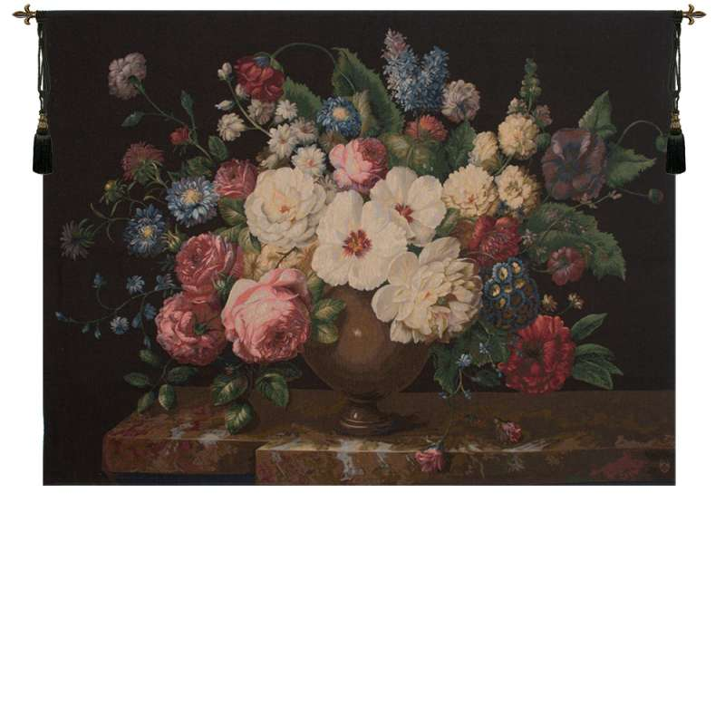 Bouquet Hibiscus Noir French Tapestry