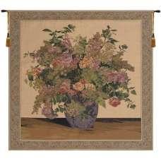 Floral Congregation Beige European Tapestry