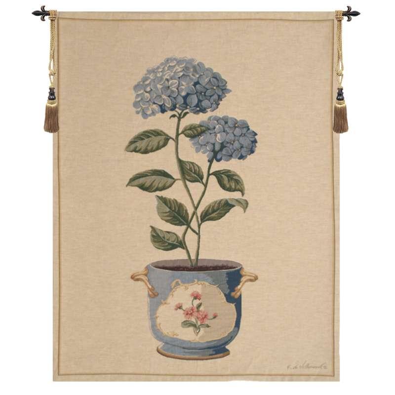 Blue Hydrangea European Tapestry