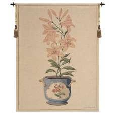 Pink Amaryllis European Tapestry