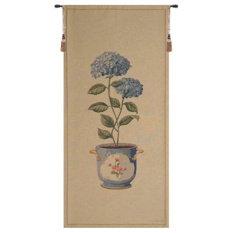 Blue Hydrangea Large European Tapestry