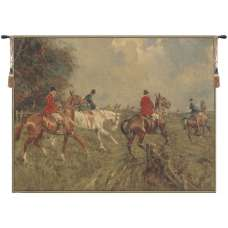 Equestrian Chase European Tapestry