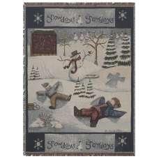 Snow Days Tapestry Throw