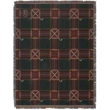 Crossed Golf Clubs Tapestry Throw