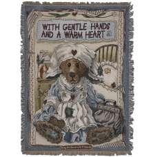 Clara The Nurse Tapestry Throw