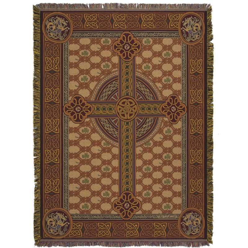Celtic Cross Tapestry Throw