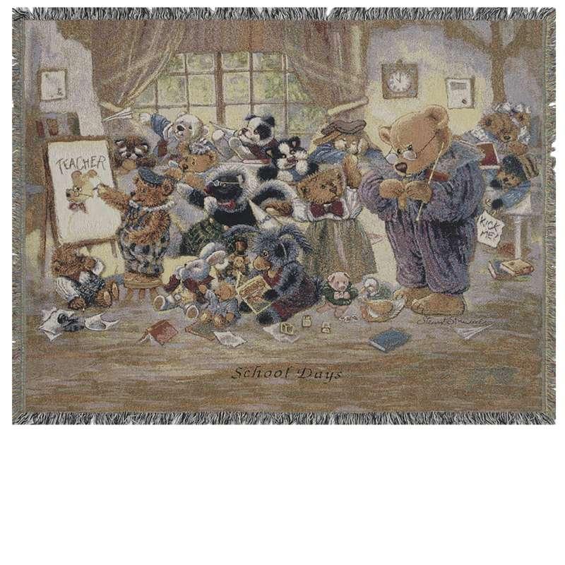 School Days II Tapestry Throw