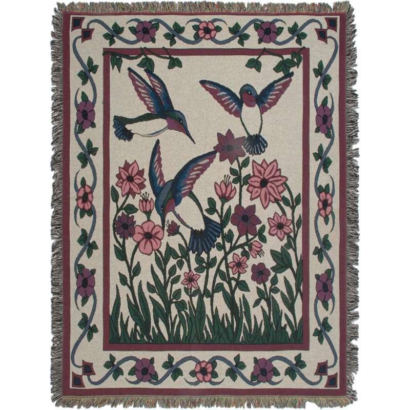 Hummingbird Haven II Tapestry Throw