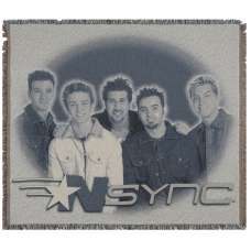 NSYNC Tapestry Throw