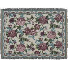 Floral Frame Tapestry Throw