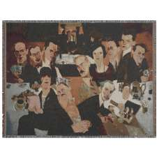 Roaring 20's Card Game Tapestry Throw