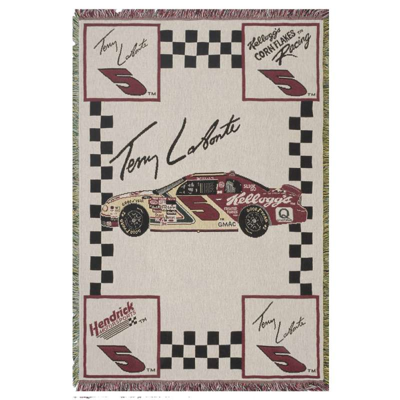 Terry Labonte #5 Tapestry Throw