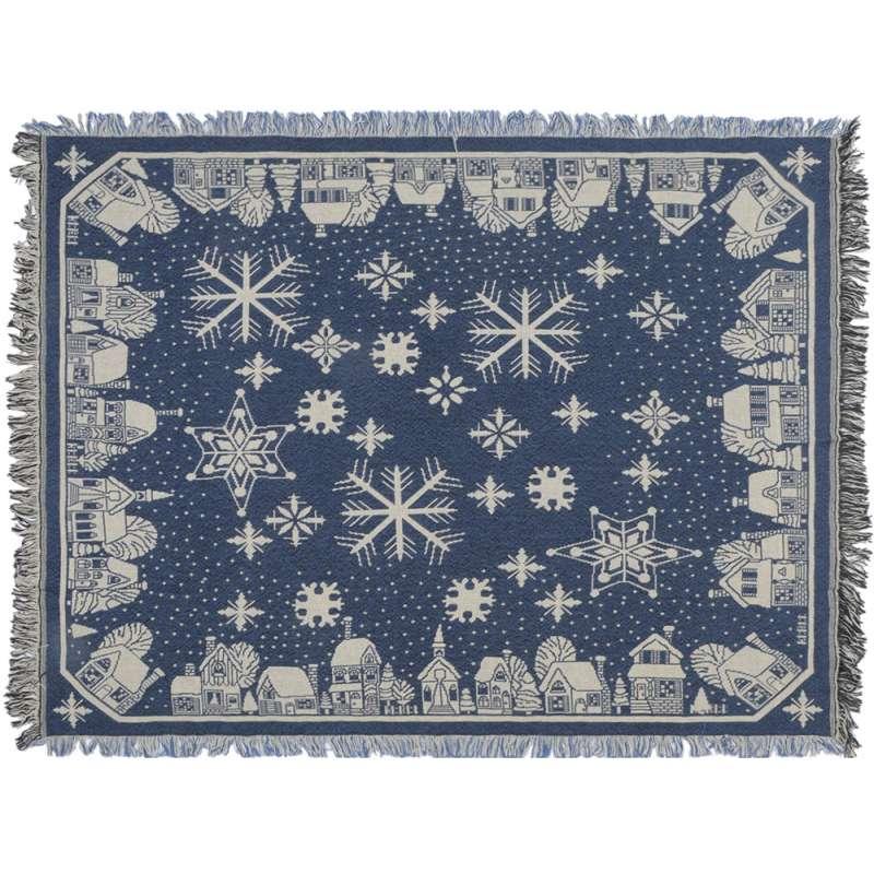 Snowflake Village Tapestry Throw