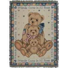 Friends Come In All Sizes Tapestry Throw