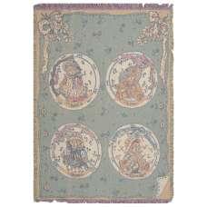 Faith, Love, Hope and Charity Bears Tapestry Throw
