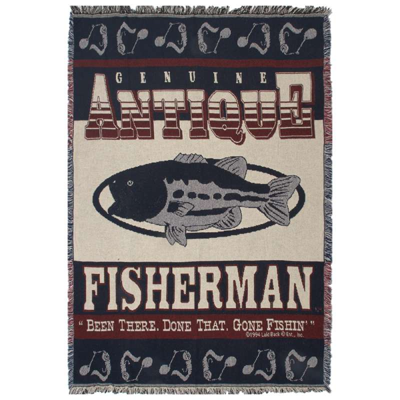 Been There, Done That, Gone Fishin' Tapestry Throw