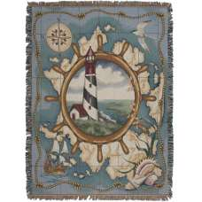 Nautical Highlights Tapestry Throw