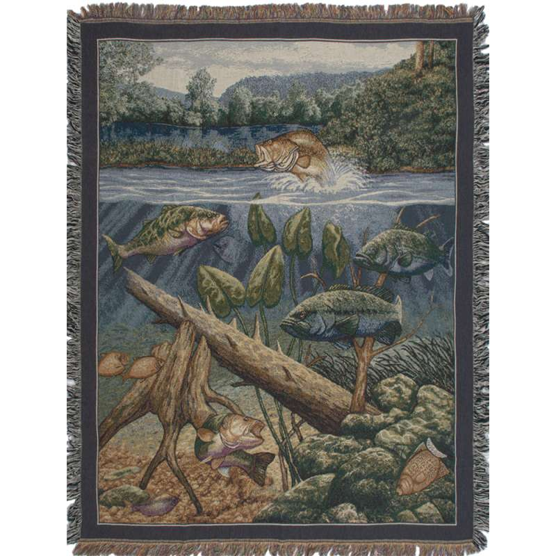 Fishin' Hole Tapestry Throw