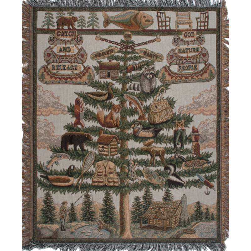 The Outdoorsman Tapestry Throw
