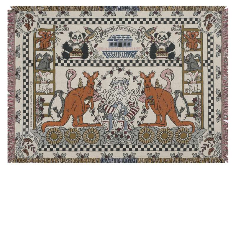 And They Came Two By Two Tapestry Throw