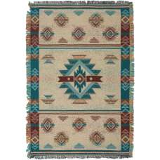 Southwest Turquoise II Tapestry Throw