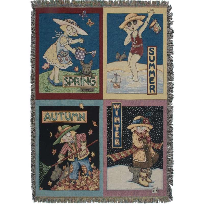 Seasons Tapestry Throw