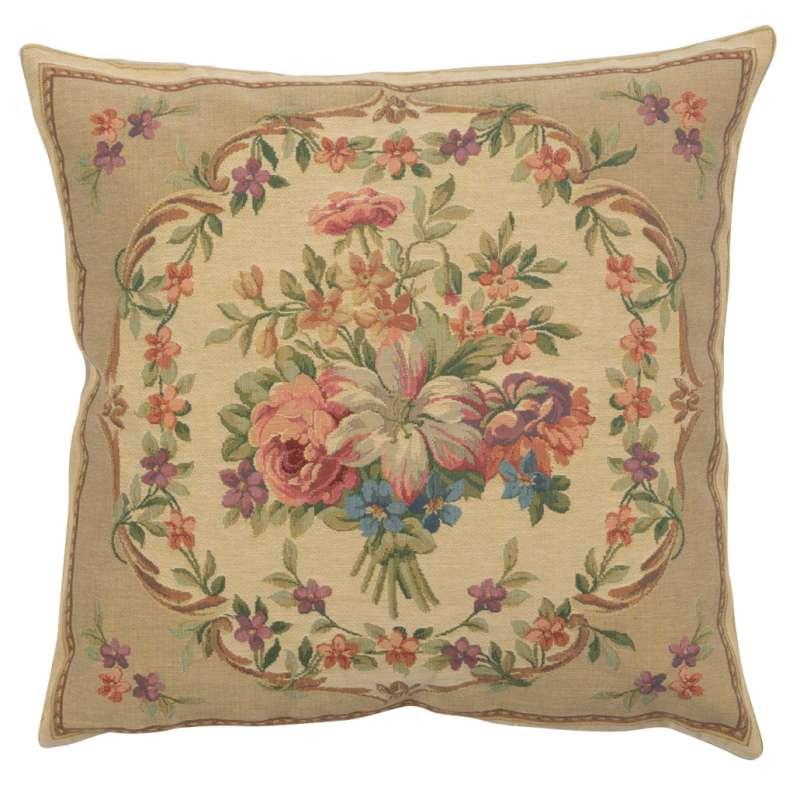 Bouquet Floral Beige European Cushion Cover