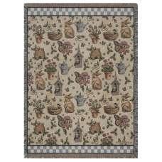 Garden Delights Tapestry Throw