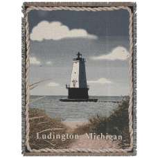 Ludington Lighthouse Tapestry Throw