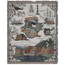 North Carolina Sights Tapestry Throw
