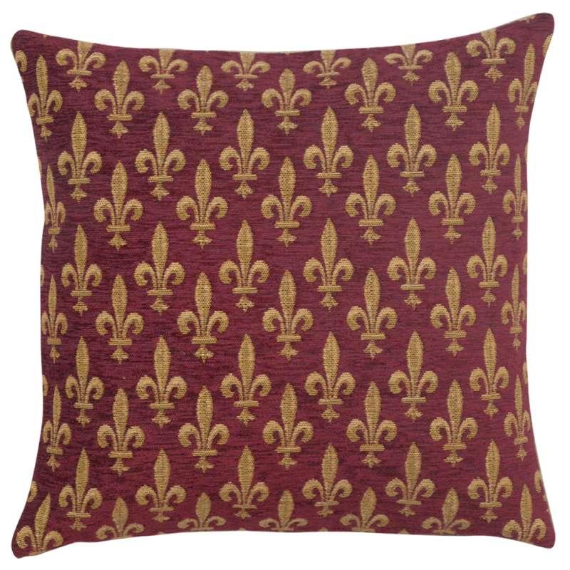Fleur de Lys Rouge IV European Cushion Cover