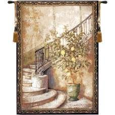 Lemon Stairwell Fine Art Tapestry