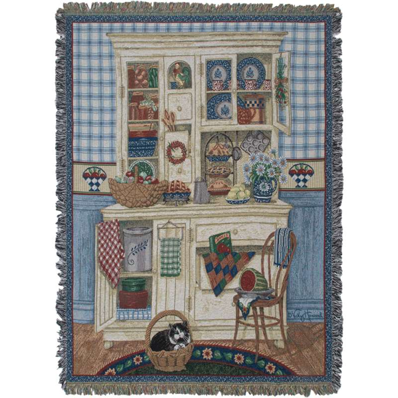 Country Kitchen Tapestry Throw