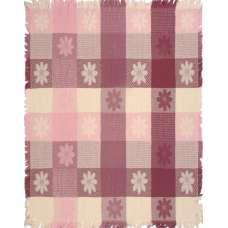 Mauve and Natural Textured Blocks Tapestry Throw