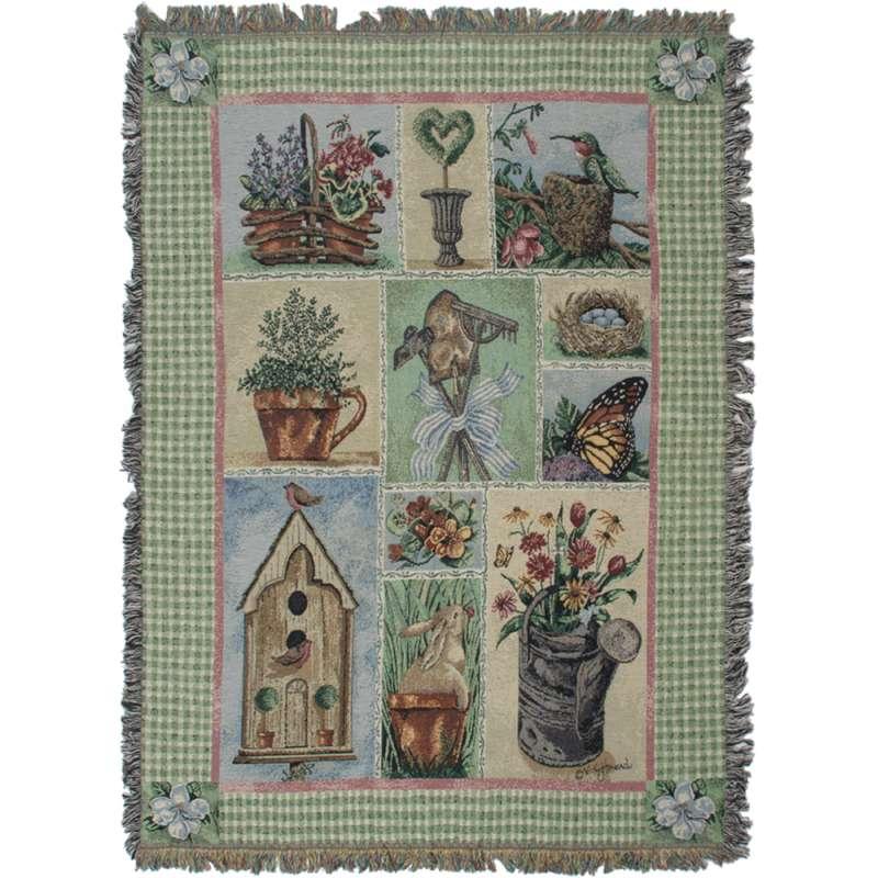 Garden Party II Tapestry Throw