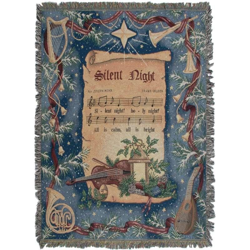Silent Night Tapestry Throw