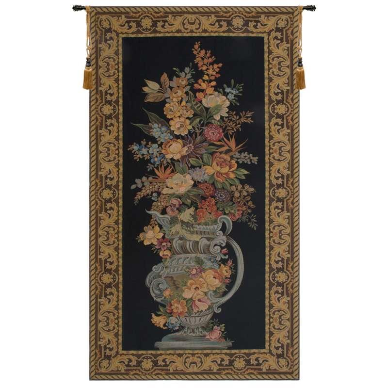 Elaborate Blue Urn Floral European Tapestry