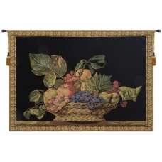 Fruit Basket Black European Tapestry
