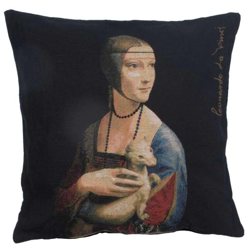 Dame A L'Hermine I European Cushion Cover