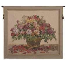 Spring Flowers Beige European Tapestry