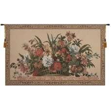 Ann's Floral Basket Large European Tapestry