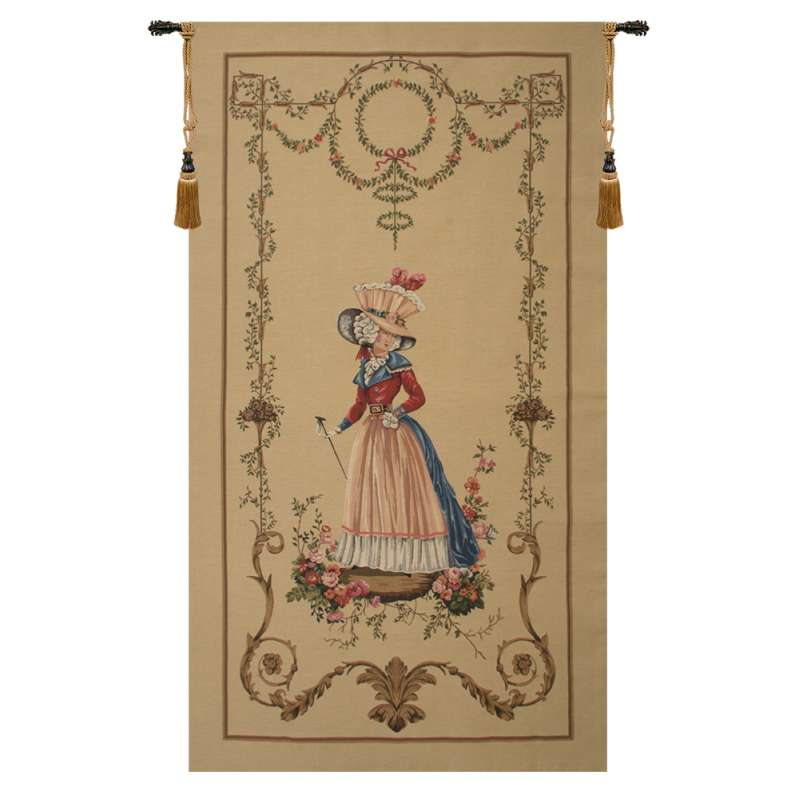 A Lady Waiting European Tapestry