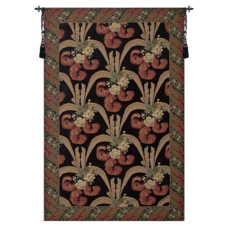 Elegant Floral Scroll European Tapestry