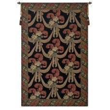 Elegant Floral Scroll II European Tapestry