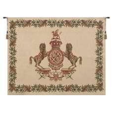 Horse Crest Beige European Tapestry