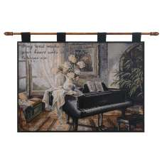 Life's Grand with Verse Fine Art Tapestry