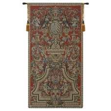 Heraldic Red Small European Tapestry
